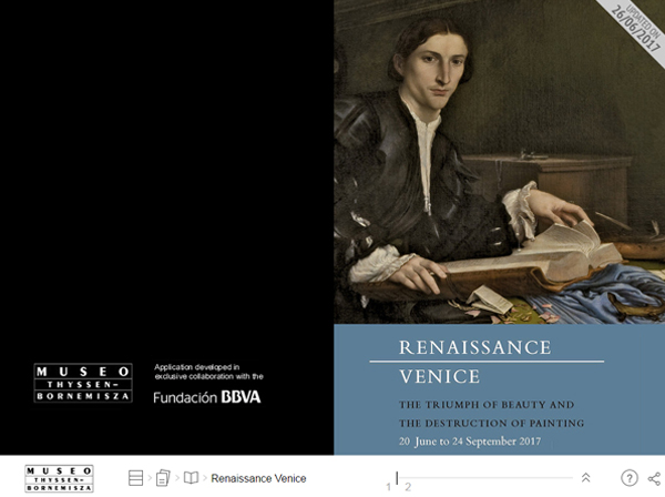 Interactive publication. Renaissance Venice. The Triumph of Beauty and the Destruction of Painting