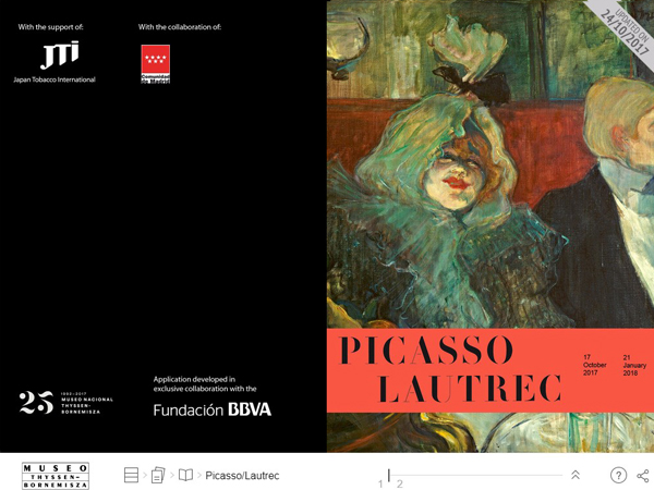 Interactive publication Picasso/Lautrec exhibition