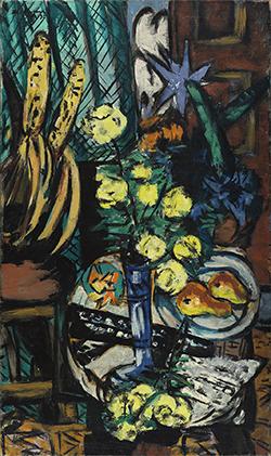 Max Beckmann.  Bodegón con rosas amarillas, 1937