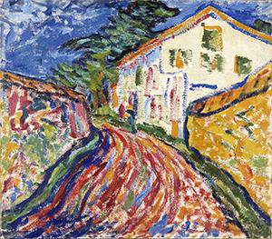 Erich Heckel. Casa en Dangast (La casa blanca), 1908