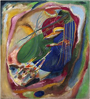 Wassily Kandinsky.  Pintura con tres manchas, n. 196, 1914