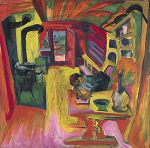 Ernst Ludwig Kirchner. Cocina alpina, 1918