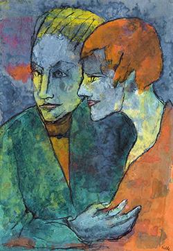 Emil Nolde.  La joven pareja, hacia 1931-1935