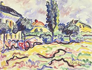 Karl Schmidt-Rottluff. El pueblo de Dangast, 1909