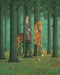 Magritte, La firma en blanco