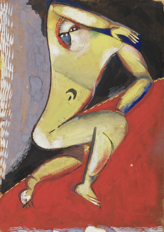 Desnudo - Chagall, Marc. Museo Nacional Thyssen-Bornemisza