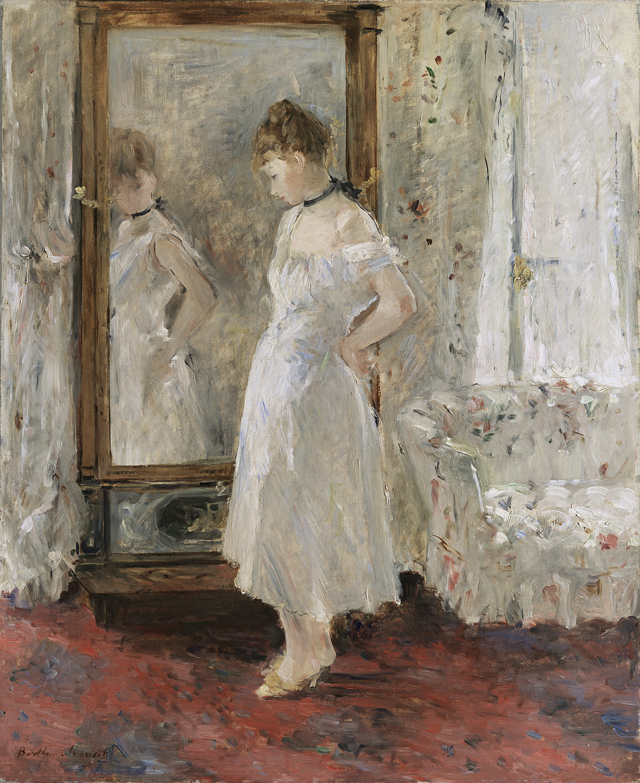 The Psyche mirror - Morisot, Berthe. Museo Nacional Thyssen-Bornemisza