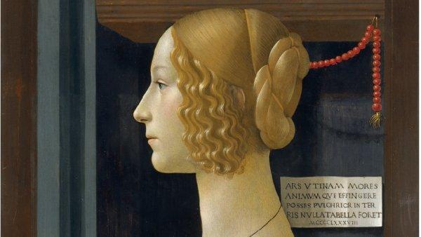 Domenico Ghirlandaio, Portrait of Giovanna degli Albizzi Tornabuoni, 1489-1490