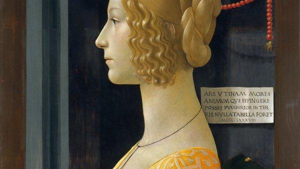 Domenico Ghirlandaio. Retrato de Giovanna degli Albizzi Tornabuoni, 1489-1490