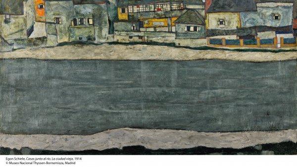 Egon Schiele. Casas junto al río