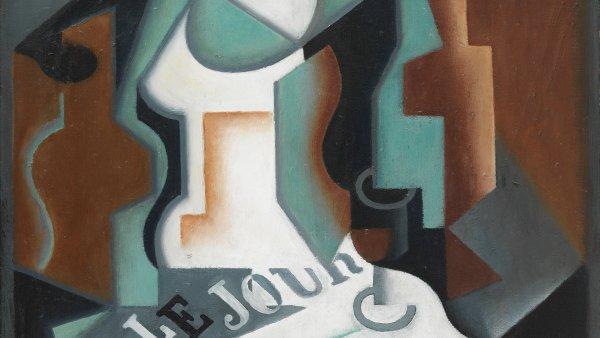 Juan Gris, Botella y frutero, 1919.