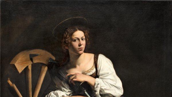 Caravaggio. Santa Catalina de Alejandría, c.1598