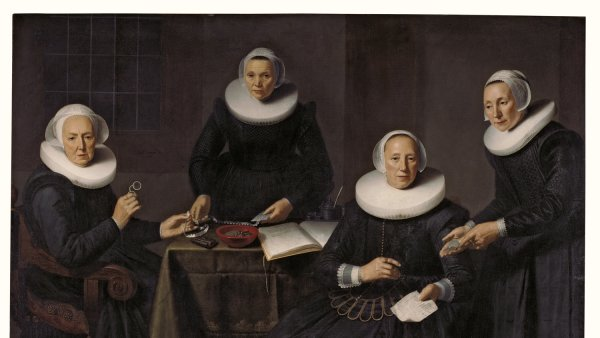 The Governesses and Wardresses of the Spinhuis, Dirck Santvoort