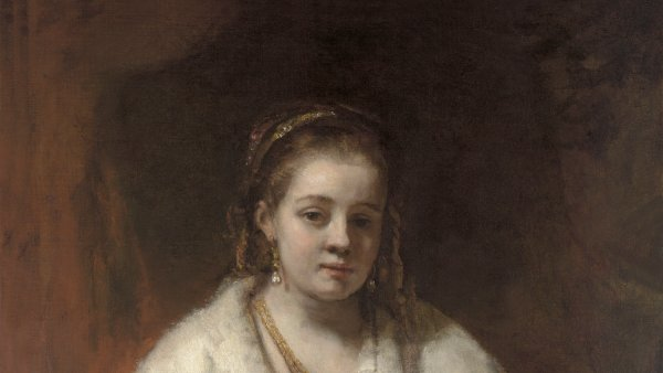 Woman in a Fur Wrap, probably Hendrickje Stoffels, Rembrandt