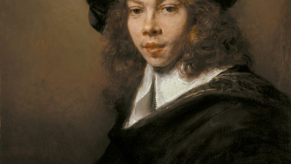 Portrait of a Young Man in a Black Beret, Rembrandt