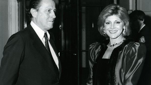 "Los barones en la inauguración de la exposición ""Modern Masters from the Thyssen-Bornemisza Collection"" en la Royal Academy of Arts, Londres, mayo de 1984"
