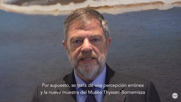 Wolfgang Dold, Embajador alemán en España, sobre la exposiciónExpresionismo alemán