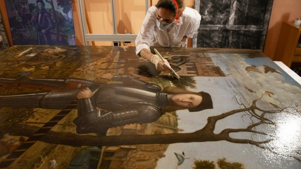 Carpaccio's Knight. Restoration and technical study