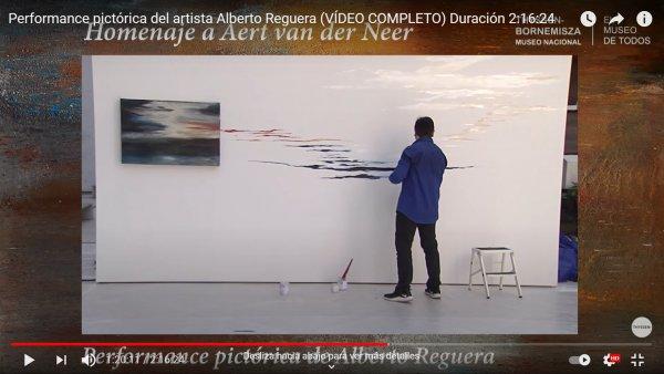 Performance pictórica del artista Alberto Reguera