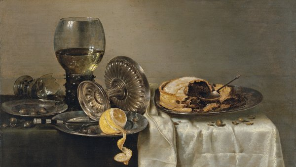 Still Life with Fruit Pie and various Objects. Bodegón con pastel de frutas y diversos objetos, 1634