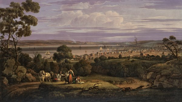 View of Greenock, Scotland, 1816