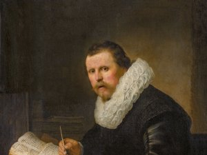 Portrait of a Man at a Writing Desk, Rembrandt