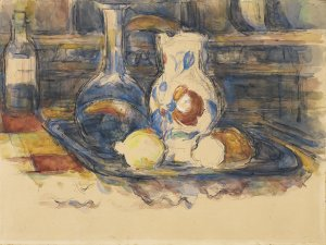 Bottle, Carafe, Jug and Lemons. Botella, garrafa, jarro y limones, 1902-1906