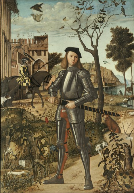 Young Knight in a Landscape. Vittore Carpaccio