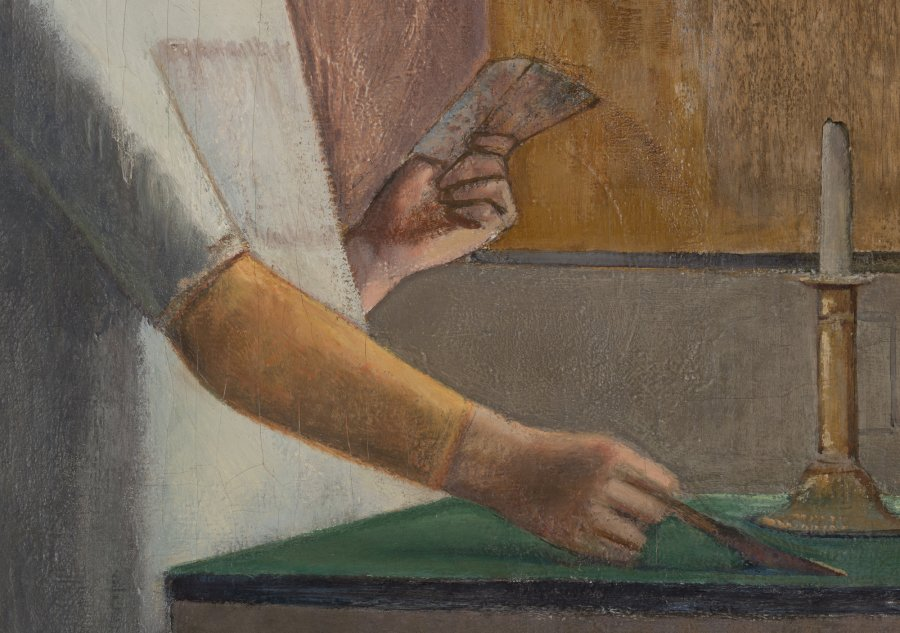 "Technical Study of ""The Card Game"", 1948- 1950 by Balthus"