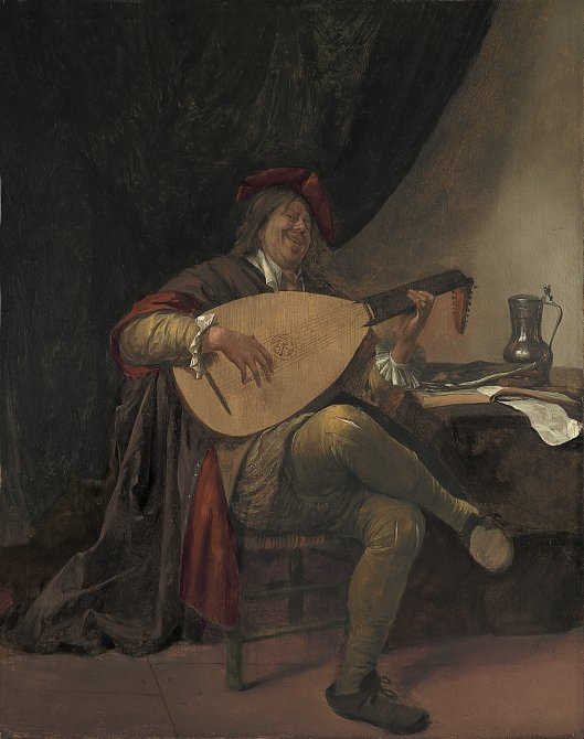 Self- Portrait playing the Lute