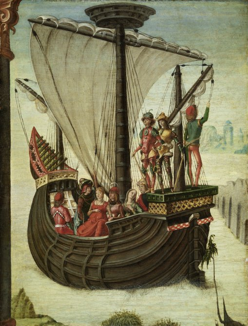 Los argonautas abandonan la Cólquida