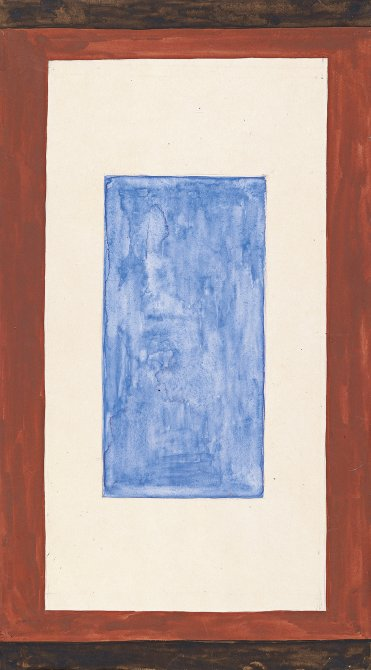 Composition with Blue Rectangle