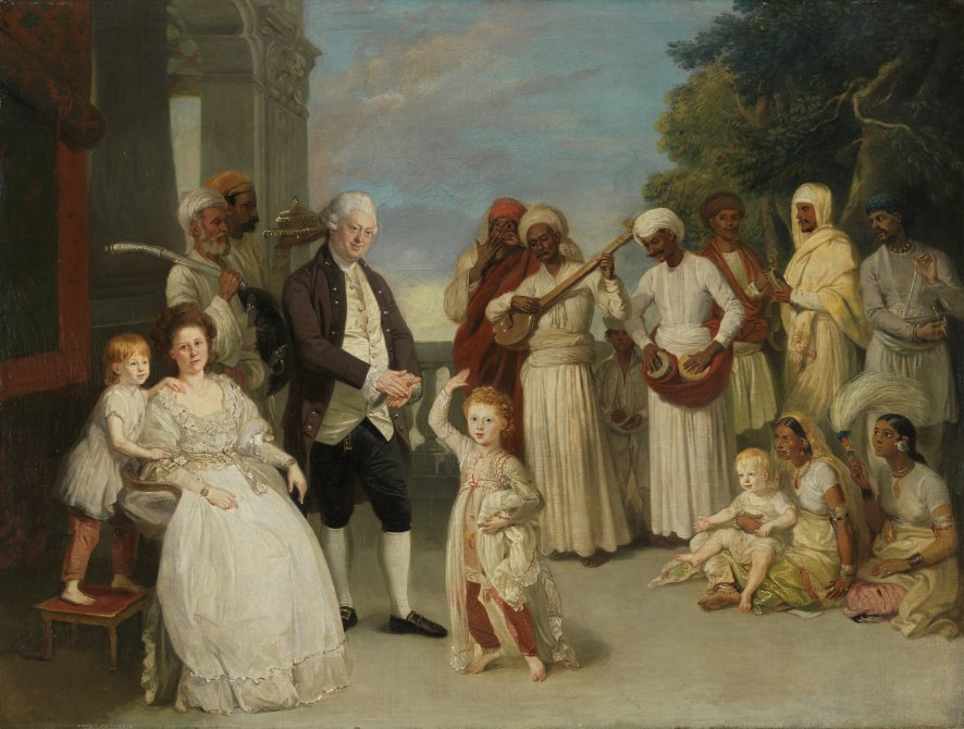 Group Portrait of Sir Elijah and Lady Impey
