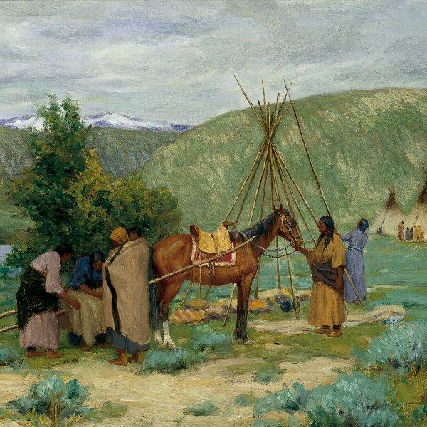 Setting up Camp, Little Big Horn, Montana