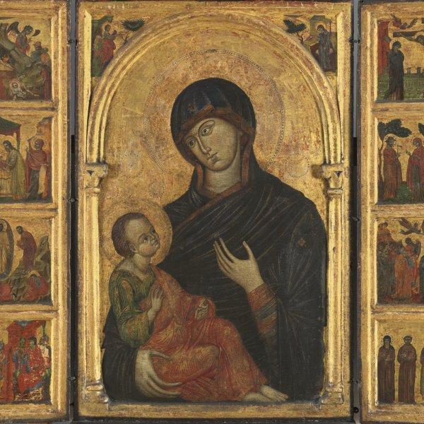 Tríptico de la Virgen con el Niño