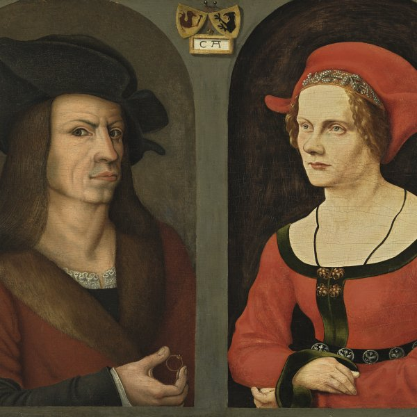 Nuptial Portrait of Coloman Helmschmid and his Wife Agnes Breu