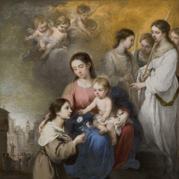 La Virgen y el Niño con santa Rosa de Viterbo