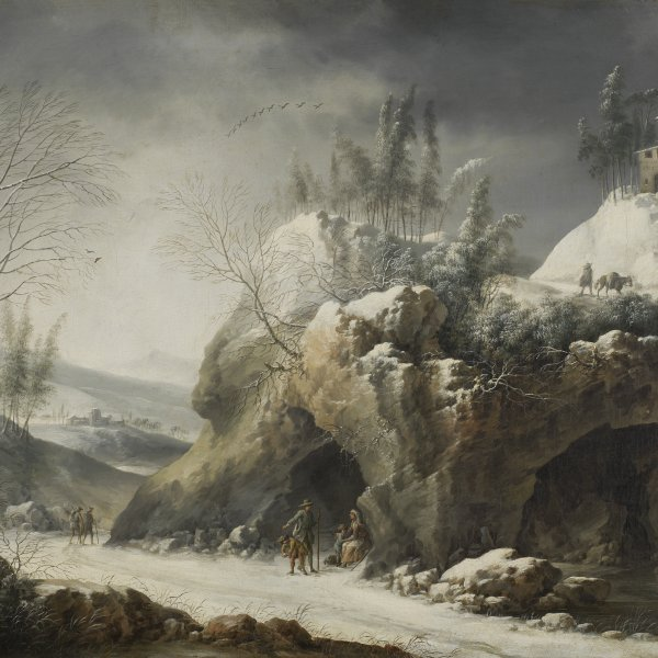 Winter Landscape with a Peasant Family