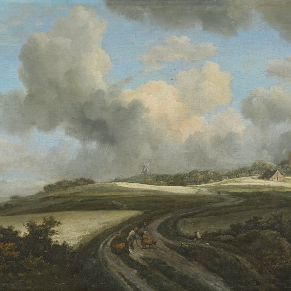 Road through  Fields of Corn near the Zuider Zee