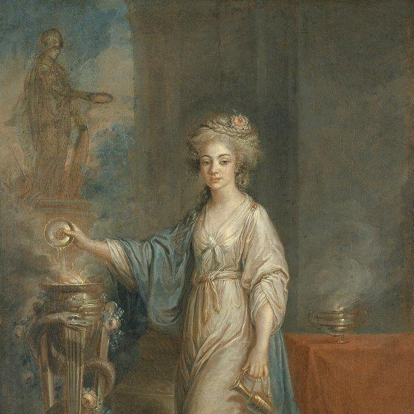 Retrato de una mujer como una Vestal