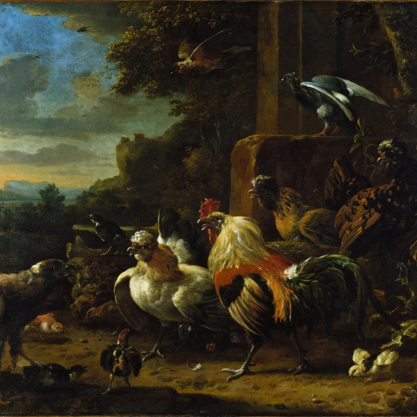 Landscape with Poultry and Birds of Prey
