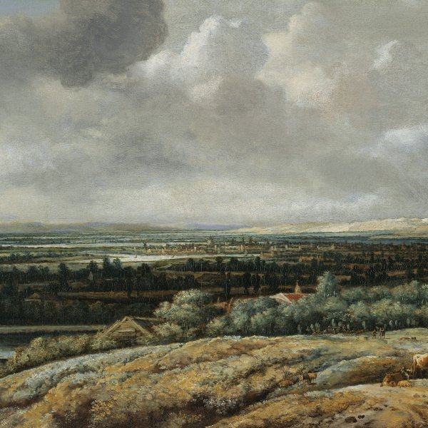 Panoramic Landscape with a City in the Background