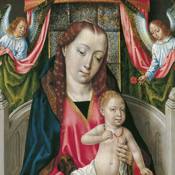 The Virgin and Child with Two Angels