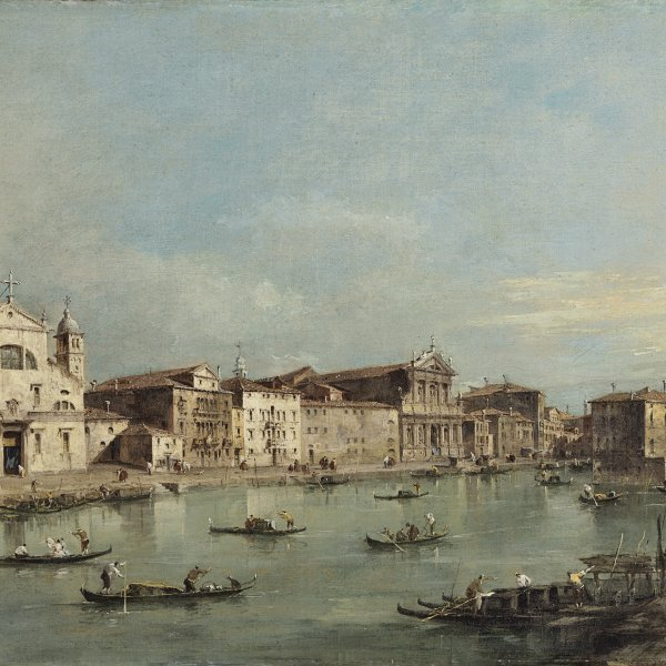 El Gran Canal con Santa Lucia y Santa María di Nazareth