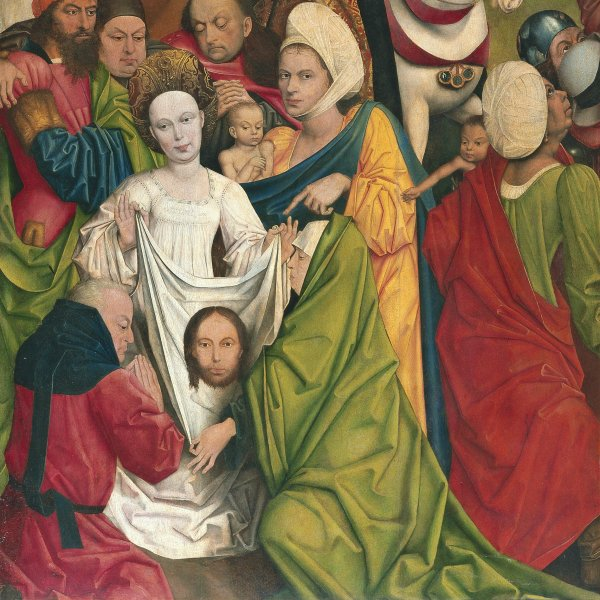 Saint Veronica and a group of Knights