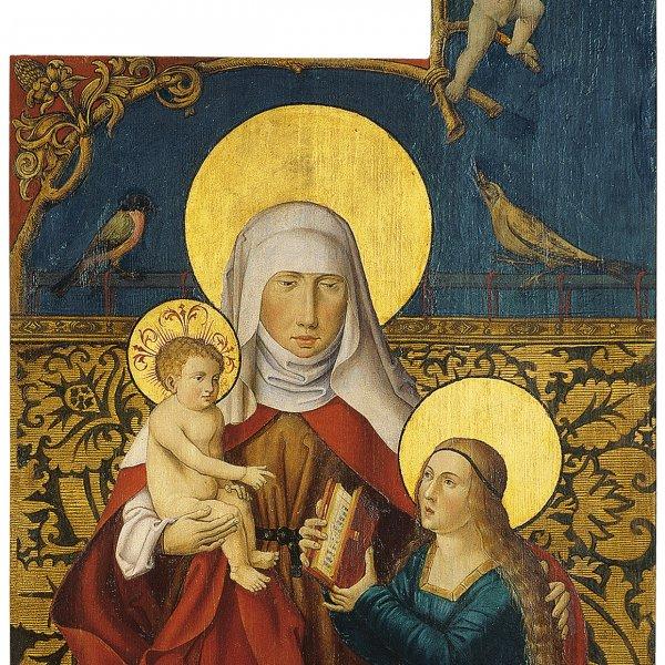 Santa Ana con la Virgen, el Niño  y un donante (Ala exterior izquierda)