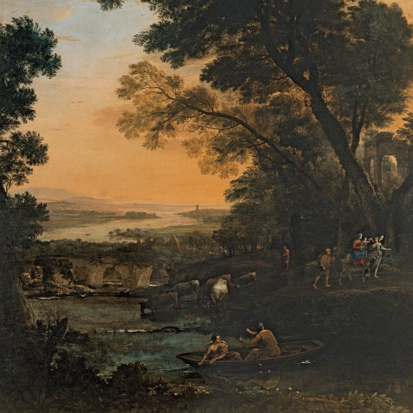 Pastoral Landscape with the Flight into Egypt