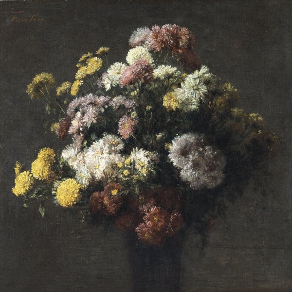 Vase with Chrysantemums