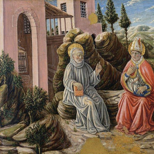 Saint Sabinus conversing with St. Benedict