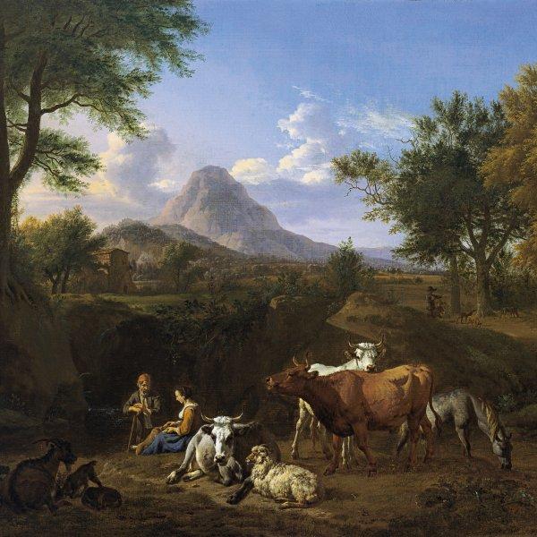 Escena pastoril